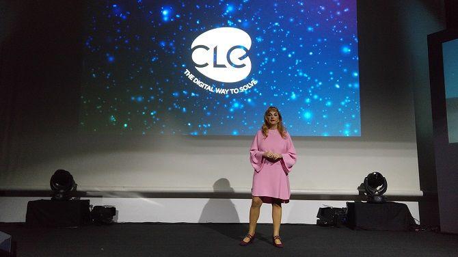 Mariarosaria Scherillo, CEO di Cle Srl, nel corso dell'evento per il trentennale dell'azienda