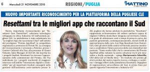 """Read more about the article Premio App4Sud: """"Resettami Cure Domiciliari"""" dell'azienda pugliese CLE tra le migliori App che raccontano il Sud"""