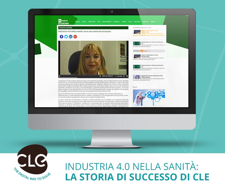 Read more about the article Industria 4.0 nella sanità: ecco una storia di successo. Cle Srl su Rai Economia