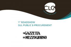Read more about the article Su La Gazzetta del Mezzogiorno si parla del 1° Roadshow sul Public e-Procurement