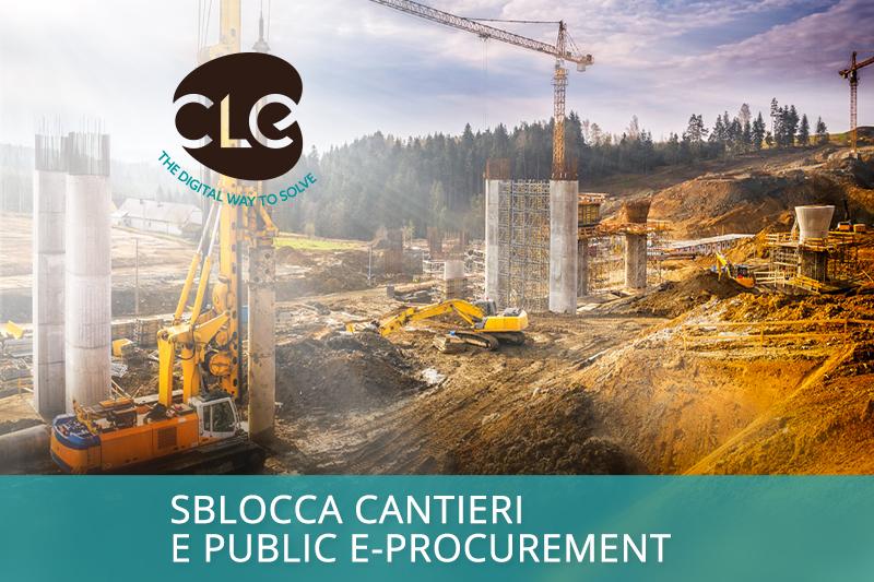 decreto sblocca cantieri e public e-procurement