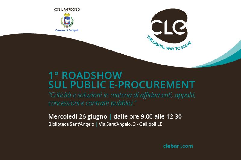 Read more about the article 1° RoadShow sul Public e-Procurement: il 26 Giugno la tappa di Gallipoli