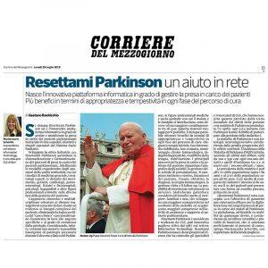 Il Corriere del Mezzogiorno dedica un approfondimento alla nostra Piattaforma Informatica Resettami Parkinson