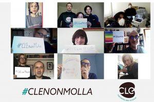 Read more about the article #CLENonMolla: il video con le testimonianze delle donne e degli uomini di CLE