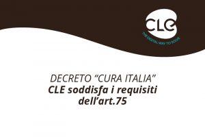 """Decreto """"Cura Italia"""": CLE soddisfa i criteri dell'art.75 per gli acquisti di servizi informatici delle PA"""