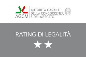 Read more about the article L'AGCM (Autorità Garante della Concorrenza e del Mercato) assegna a CLE il Rating di Legalità con il punteggio di due stelle