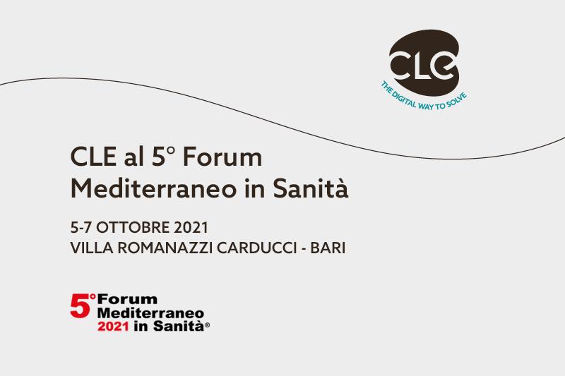 Read more about the article CLE presente alla quinta edizione del Forum Mediterraneo in Sanità con un intervento sul Sistema Informativo Sociale Regionale
